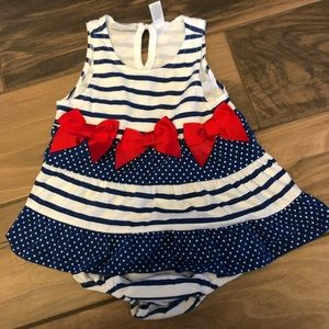24 month red, white, and blue dress